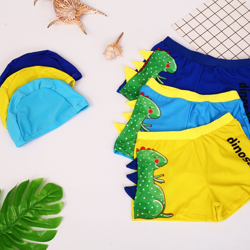New Style CHILDREN'S Swimming Trunks Swimming Cap BOY'S Swimsuit AussieBum Cartoon Young Infant Baby Swimming Trunks