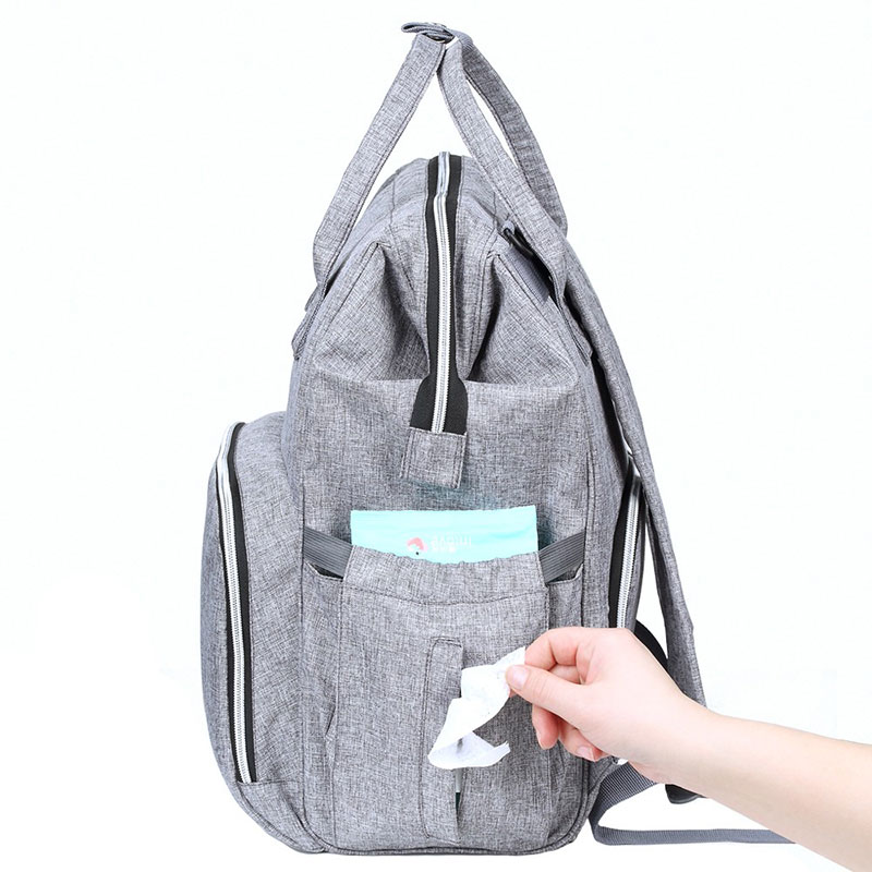 Diaper Bags with Stroller Straps Nappy Backpack Bag Mummy Large Capacity  Bag Mom Baby Multi-function Waterproof Outdoor Travel