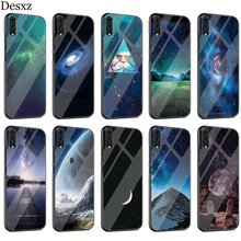Cosmic Star Black Hole Case Glass For Huawei P30 P10 P20 P Smart Mate 20 Pro Lite Y6 Y9 Honor 7A 8X 9 10 Cover(China)