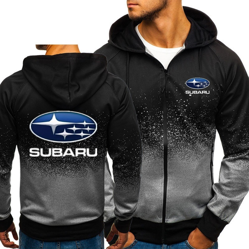 Jackets Outerwear Sweatshirt Cardigan Fleece Hoodies Logo Subaru Fashion Clothing Coat