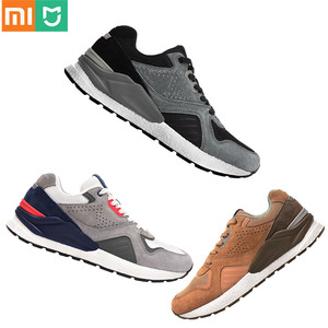 Image 1 - Xiaomi Mijia حذاء جري من الجلد الطبيعي المتين ومسامي ، أحذية رياضية ريترو ، 2020