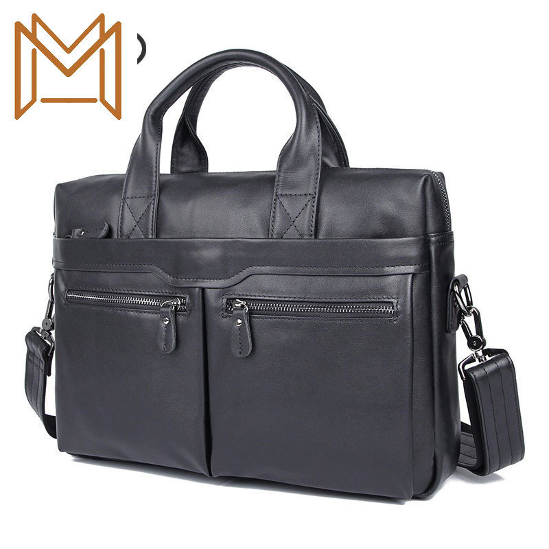 Genuine Leather Bag Head Layer Cowhide Male Bag Portable Single Shoulder Messenger Business Affairs Briefcase