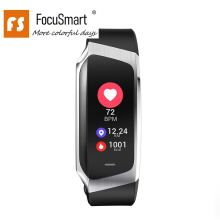 FocuSmart E18 Smart Wristband Waterproof Screen Bracelet Fitness Tracker Blood Pressure HeartRate Monitor Wristbands