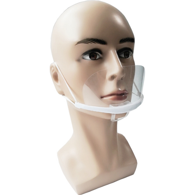 Safty Virus Protective Face Transparent Screen Mouth Mask Anti-Saliva Anti-dust Anti-droplet Spittle Full Face Shield Mouth Mask