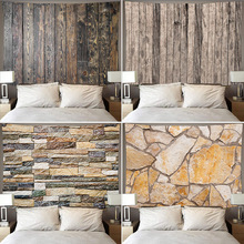 Tapestry Hanging-Cloth Fabric Log-Style Texture Home-Decoration Wood Ins