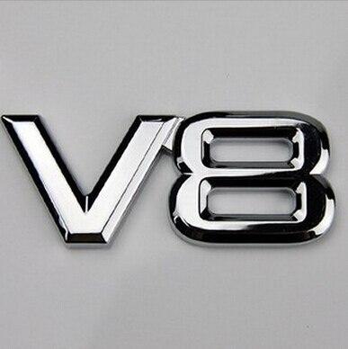 3D ABS наклейка хром 5,0 6,2 V8 эмблема, логотип, Наклейка эмблемы наклейки для автомобиля бампер наклейки для Toyota Land Rover Volkswagen