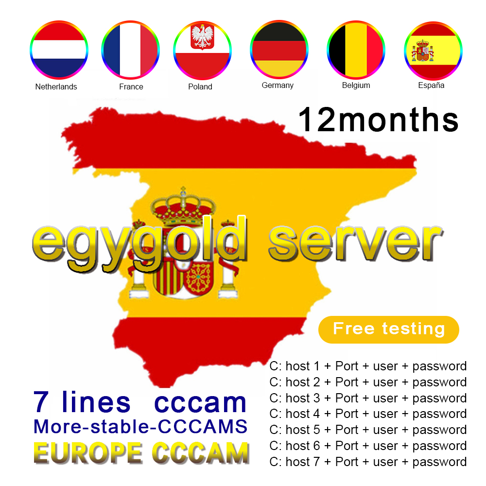 The latest 7-line high-definition egygold cccam server in 2021 is suitable for free testing in Spain, Germany, Italy and Poland