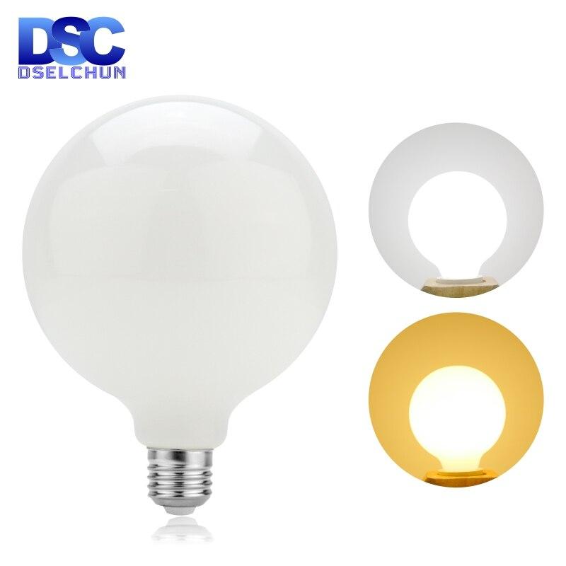 Молочно-белый Стекло лампы E27 5 Вт Эдисон светодиодный светильник лампы G80 G95 G125 220V-240V шар лампы Холодный/теплый белый лампада светодиодный по...