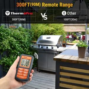 Image 2 - ThermoPro TP 08S termómetro de cocina inalámbrico remoto para alimentos BBQ remoto, ahumador, parrilla, horno, carne monitoriza alimentos a partir de 300 pies de distancia
