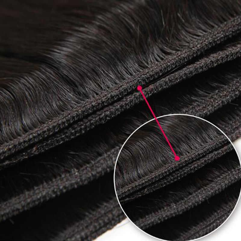 Żurawina włosów 4 zestawy Deal peruwiański włosów pasma prostych włosów 100% pasma włosów typu remy ludzki włos do przedłużania włosów Natural Black