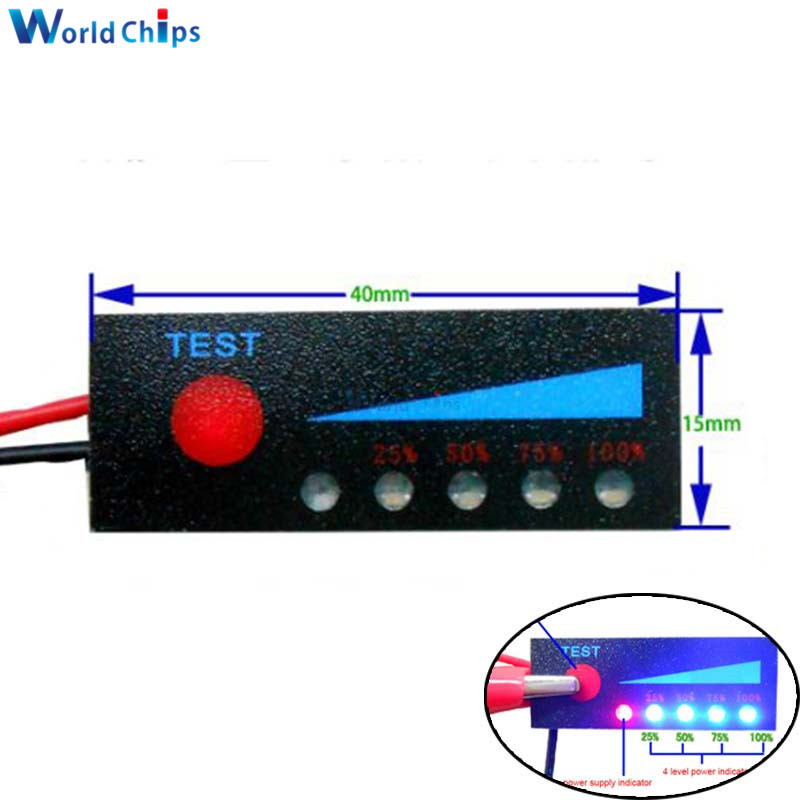 BMS 1S 2S 3S 4S 5S 6S 7S capacité de la batterie au Lithium indicateur LED affichage de la lumière testeur de batterie accessoire de charge