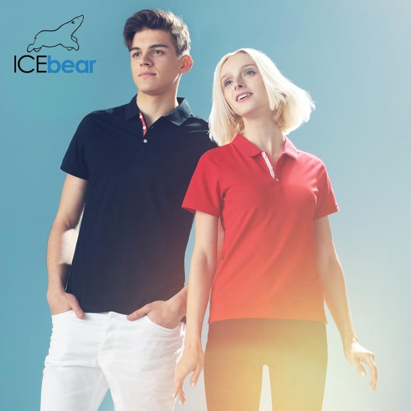 Icebear 2020 Summer New T-shirt Pearl Fiber Cultural Shirt High-quality Fashion Women Short Sleeve Neutral Style 1788