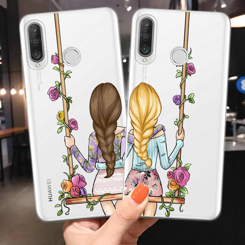Coque de téléphone en silicone pour filles, étui de voyage pour filles, pour Huawei P10 P20 P30 Lite Pro Mate 20 Lite