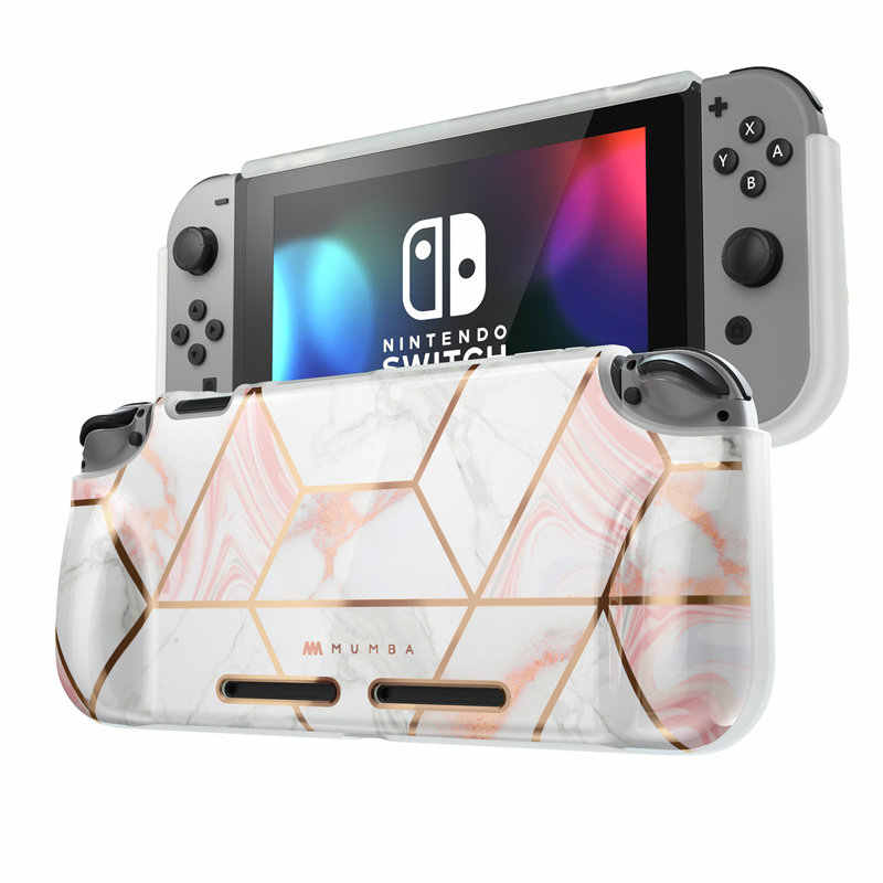 For Nintendo Switch Case Mumba Girl Power Soft TPU Grip Cover For Nintendo Switch Console with Shock-Absorption & Anti-Scratch