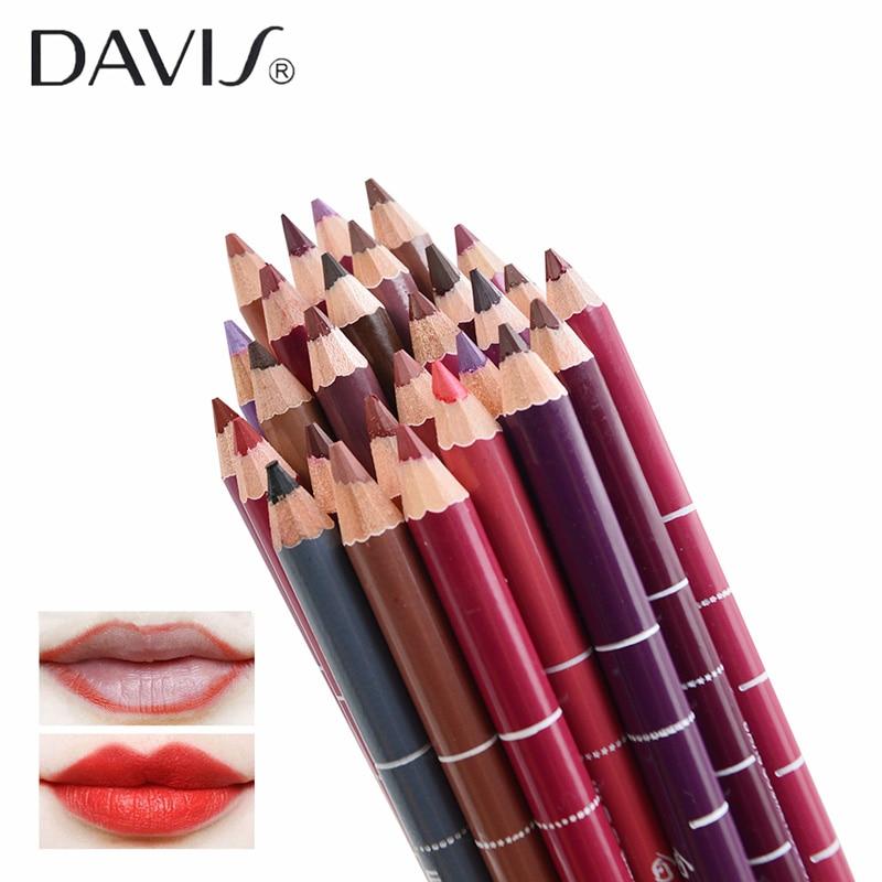 Davis Brand 24 Colors 1 Set Matte Lip liner Waterproof Lasting Ms Charming Lipliner Set Sexy Full Lips Make up Cosmetic Tools