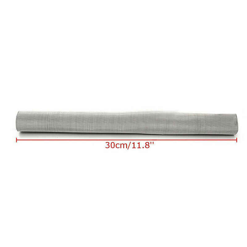 Stainless Steel Filtration Woven Wire Screen Dry Ice Pollen Water Oil Screen Filter 200 Mesh 12X24 Inch