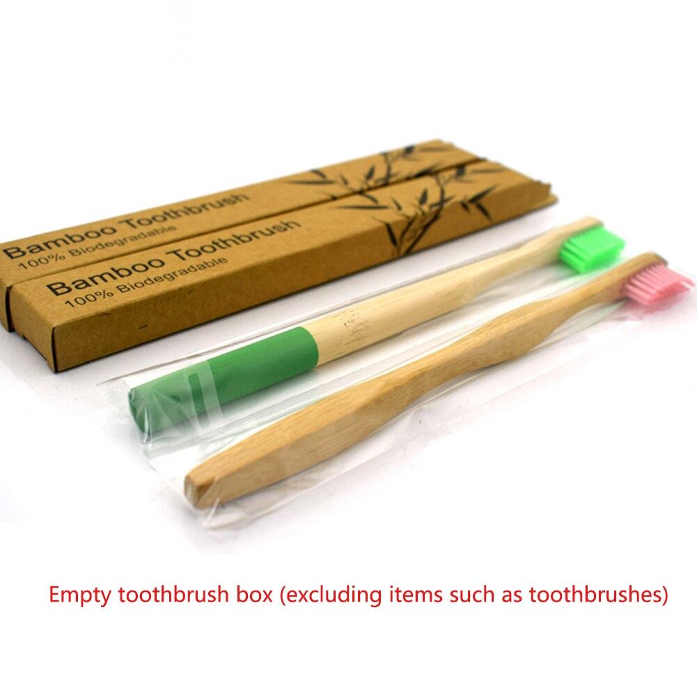 Бамбуковый уголь зубная щетка крафт-коробка экологическая упаковка коробка только зубная щетка es чехол