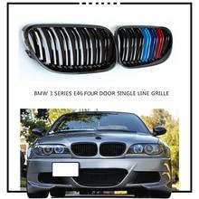Пара грилей для переднего бампера BMW 3 серии E46 4 двери 2002 2003 2004 2005 Гонки Грили Стайлинг