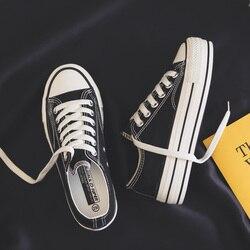 Женская обувь на платформе; коллекция 2019 года; сезон лето; Новинка; модная женская обувь; Повседневная однотонная парусиновая обувь ярких цв...