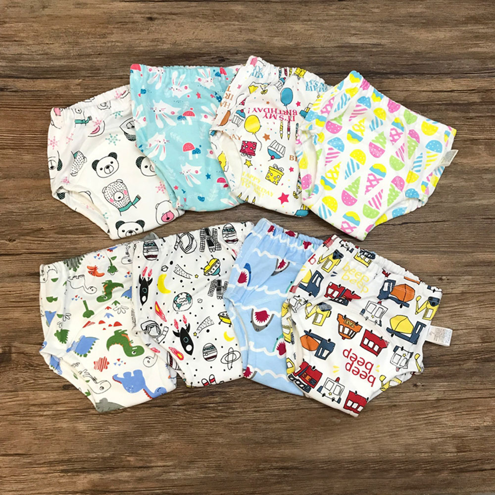 30pcs Wholesale Cotton Baby Kids Girls Boys Training Pants 6 Layers Cotton Gauze Potty Training Panties Comfortable Breathable