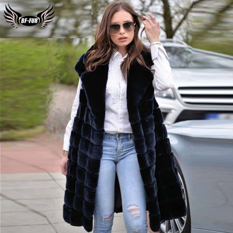 New Women's Natural Rex Rabbit Vest Suit Collar With Leather Belt Full Pelt Genuine Rabbit Fur Coat Gilets Winter Outwear Luxury