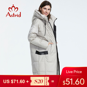 Astrid 2019 Winter new arrival down jacket women loose clothing outerwear quality with a hood fashion style winter coat AR-7038(China)