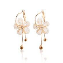 CHENFAN Popular spiral creative tassle jewelry pearl earrings korean womens earings for women fashion 2019