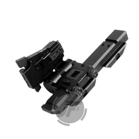 Tactical Magnifier Folding Mount For EOTech G23 G33 3X Fit Left Hand 20mm Picatinny Rail Flip To Side Quick Detach w/ 5/8 Riser