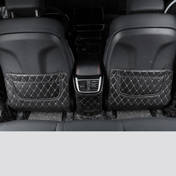 Lsrtw2017 Fiber Leather Car Rear Seat Anti-kick Mat for Hyundai Tucson 2015 2016 2017 2018 2019 2020 Interior Accessories Cover