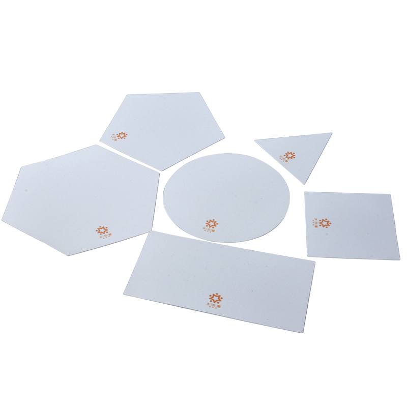 Cerâmica arte placa de contorno placa geométrica cerâmica arte ferramenta placa de impressão conveniente e prático conjunto de 6 produção criativa