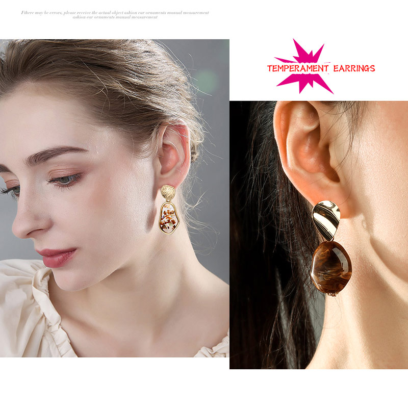 Hb1081539ed9f44a68594147c0fe677b5e - New Statement Drop Earrings For Women Fashion Gold Earrings Acrylic Geometric Red Dangle Earring Wedding Brinco Jewelry