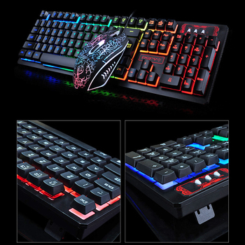 K13 Gaming keyboard Mouse Combo RGB Backlight Mechanical Felling keyboard Gamer kit Silent Gamer Mouse Set for PC Laptop 4