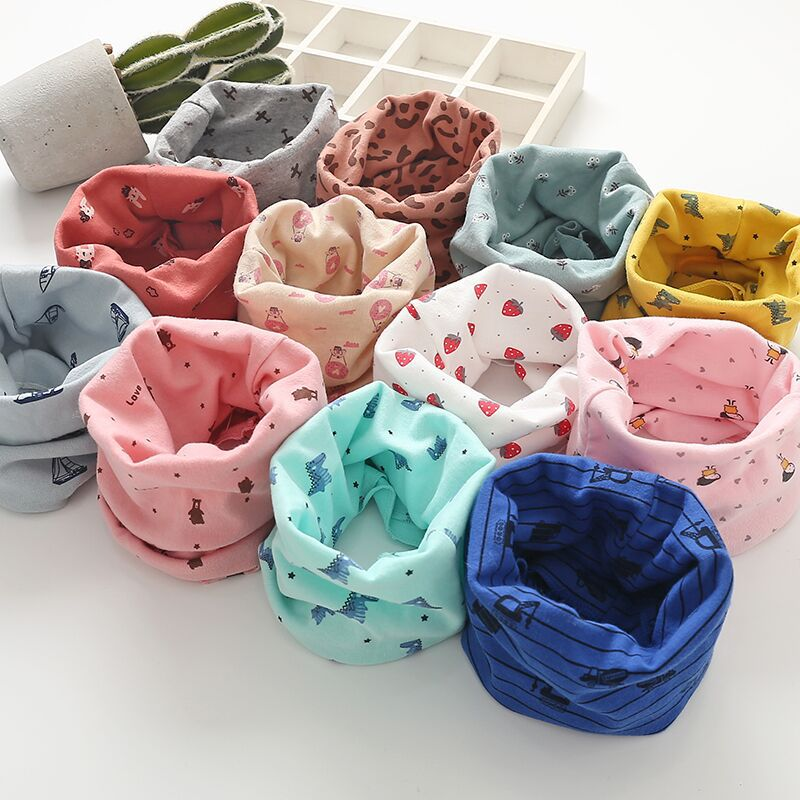 2019 New Children's Bib Collar Korean Version Warm Floral Baby Kids Boy Girl Variety Scarf
