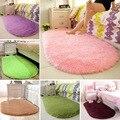 Однотонные овальные моющиеся коврики для пола для дома, гостиной, спальни, кровати, переднее одеяло, одеяло для журнального столика YU-Home