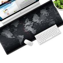 ХL карта мира коврик для мыши закрытая край стол клавиатура компьютер игровой коврик для мыши большой размер анти-скольжения Mausepad ковер