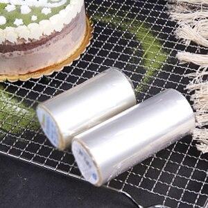 Image 3 - 1 ロールケーキフィルム透明ケーキ襟キッチンアセテートケーキチョコレートキャンディベーキングツール耐久性のある 8 センチメートル * 10m/10 センチメートル * 10 メートル