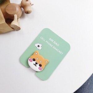 Image 5 - חמוד כרית אוויר אוניברסלית סוגר תפר מזל חתול טלפון הרחבת stand cartoon נייד אצבע מחזיק דוב חלבי ילדה סלולרי Kickstand