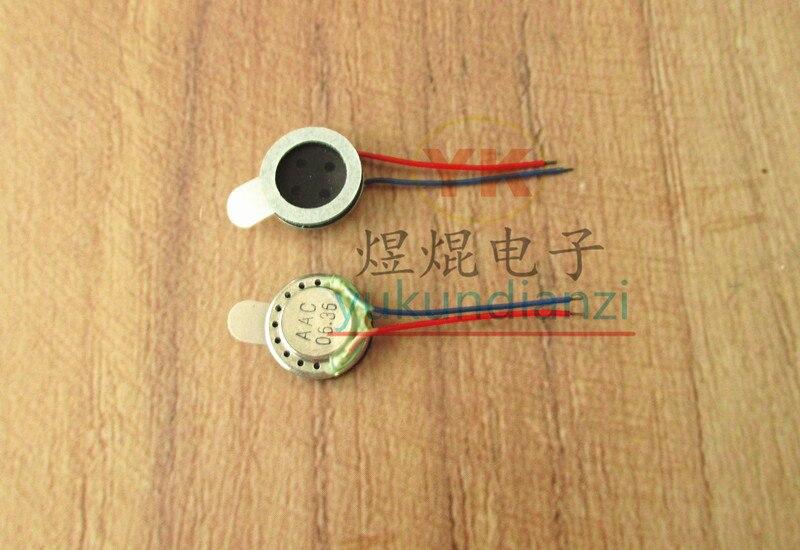 32Ω 0.5W with line phone speaker 32 ohm 32R 1/2W mini audio speaker speaker diameter 10MM height 3MM line length 20MM