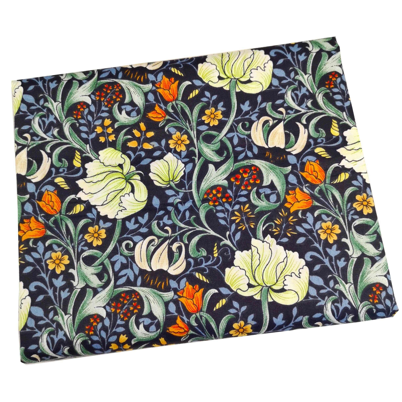 Syunss, impresión floral, estilo Retro, Diy, tela de retazos para acolchar, cojines para cuna de bebé, vestido, telas para coser, tela de algodón de sarga, tejido