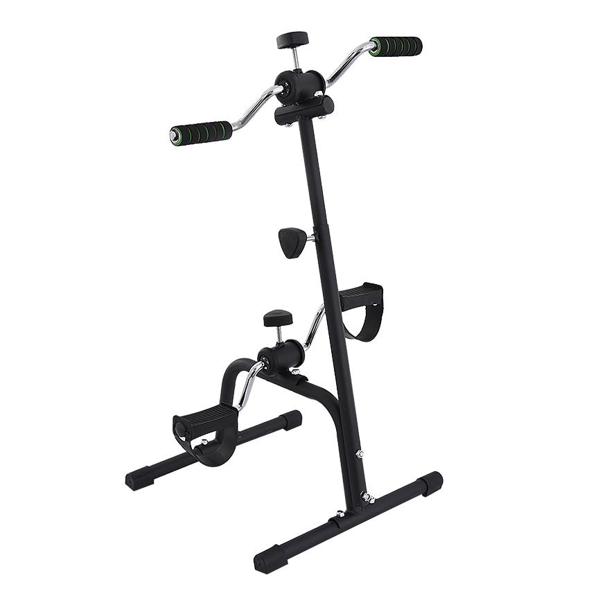 Комнатный мини-тренажер для фитнеса, велосипедная беговая дорожка, вертикальная реабилитация, велосипедные поручни, велосипедные шаговые ...