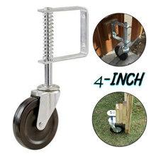 1x 4in пружинный механизм дверное колесо/бесшумный мебель резиновые