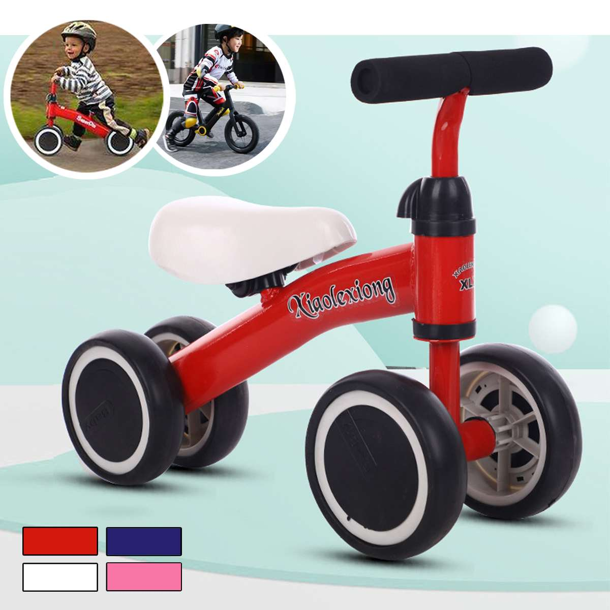 Children Balance Bike Bicycle Baby Walker Kids Outdoor Sports Ride on Car Toys for 1-3 years Old Children Learning Walk Scooter