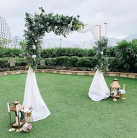 2*2 Meters wedding stage backdrops metal rack frame with fake flowers decorative flower stand event party square arch DIY shelf