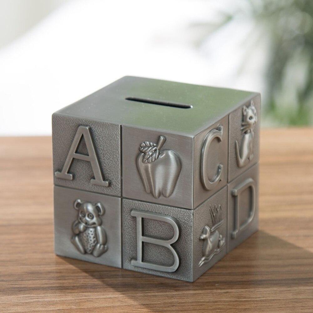 Piggy Bank Creative Metal Coin Bank Money Holder Saving Pot Desktop Ornament
