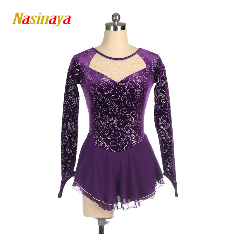 Nasinaya Figure Skating Dress Customized Competition Ice Skating Skirt For Girl Women Kids Patinaje Gymnastics Performance 416