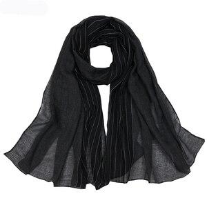 Image 3 - Осенне зимние шарфы хорошего качества, Женский хлопковый шарф, шали и накидка, хиджаб, шарф, женская теплая длинная шаль, мусульманский хиджаб