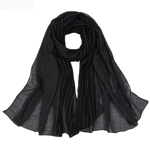 Image 3 - Autumn Winter Good Quality Scarves Women Cotton Scarf Shawls and Wrap Hijab Scarf  Ladies Warm Long Shawl Muslim Head Hijab