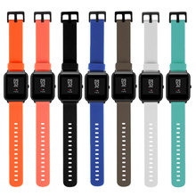20mm Silicone Wrist Watch Band Strap for Xiaomi Huami Amazfit Bip BIT PACE Lite Sports Bracelet Smart Watches Accessories mijobs 20mm silicone wrist watch band strap for xiaomi huami amazfit bip bit pace lite bracelet smart watch pulseira accessories