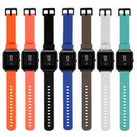20mm Silicone Wrist Watch Band Strap for Xiaomi Huami Amazfit Bip BIT PACE Lite Sports Bracelet Smart Watches Accessories