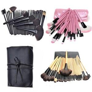 32 шт. кисти для макияжа, набор инструментов, тени для век основа для макияжа лица Косметическая пудра подводка для глаз с ресницами, губами к...